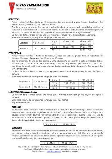 tecas info 2011 - Ayuntamiento Rivas Vaciamadrid