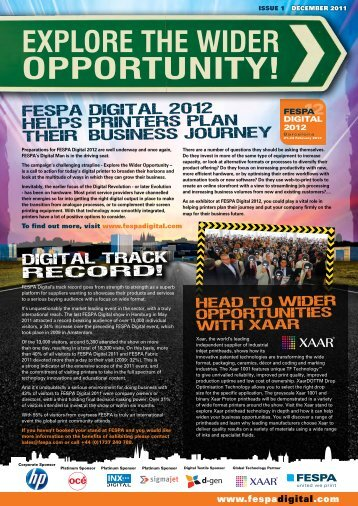 EXPLORE THE WIDER OPPORTUNITY! - FESPA