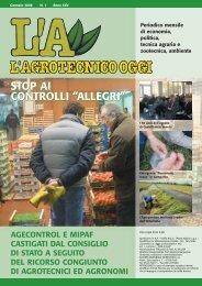 L'Agrotecnico Oggi gennaio 08 - Collegio Nazionale degli Agrotecnici