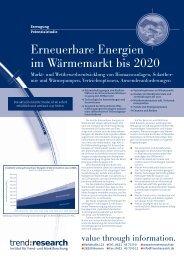 Erneuerbare Energien im Wärmemarkt bis 2020 - trend:research
