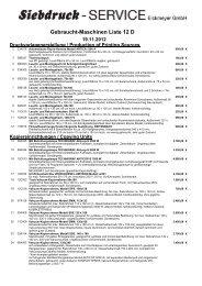 Gebraucht-Maschinen Liste 12 D - Siebdruck Service Eickmeyer ...