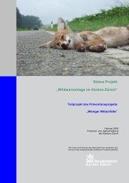 Wildwarnanlage im Kanton Zürich - beim TCS Sektion Schwyz