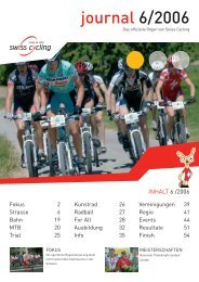Swiss Cycling Journal 06/2006 - Velo-Moto-Club Männedorf