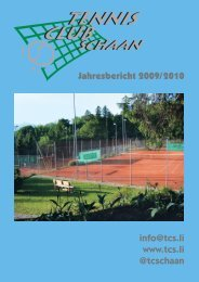 Jahresbericht 2009/2010 info@tcs.li www.tcs.li @tcschaan