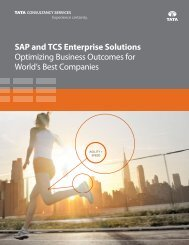 SAP and TCS Enterprise Solutions Optimizing Business Outcomes ...