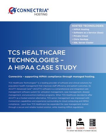 tcs healthcare technologies – a hipaa case study - CloudSleuth