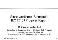 IEC TC59 - APEC Expert Group on Energy Efficiency and ...