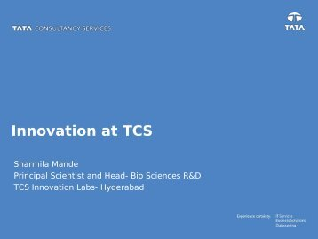 Innovation in TCS - CTO Presentation - March 25, 2010