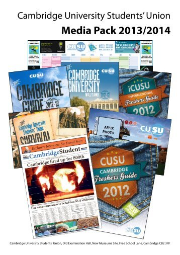 2013 2014 Annual publications - Cambridge University Students ...