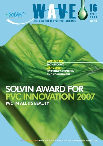 solvin award for pvc innovation 2007 - catalogue interactif ecobook