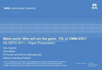 TCS IT Service Management Capabilities - Carnegie Mellon University