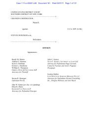 Chevron Corp. v. Donziger - Business Litigation in the Southern ...