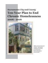 Ten-Year Plan to End Chronic Homelessness - Sacramento Steps ...