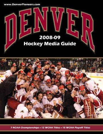 2008-09 Hockey Media Guide Template.indd - University of Denver ...