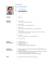 Curriculum Vitae PD Dr. med. Oliver Riesterer Tel. Fax Email ++41 ...