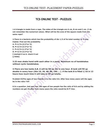 written papers of tcs Tcs paper 2016 download previous year placement question papers with answers free pdf jbigdeal has made an effort to put tcs placement question papers with answers also you can find previous year tcs campusing question paper answers free pdf tcs placement exam syllabus.
