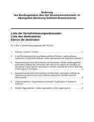 Liste der ständigen Vernehmlassungsadressaten - admin.ch