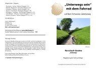 Schweizer-Jakobsweg mit Fahrrad