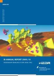 bi-annual report 2009/10 - Helmholtz-Zentrum Dresden-Rossendorf