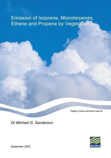 Emission of Isoprene, Monoterpenes, Ethene and Propene ... - Edocr