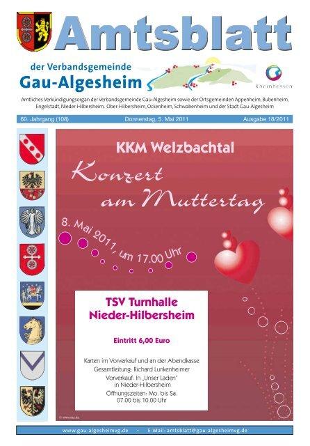 Konzert Am Muttertag Verbandsgemeinde Gau Algesheim