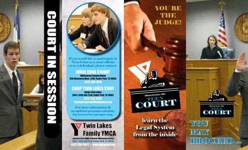 Teen Court Brochure - YMCA of Greater Williamson County