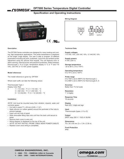Omega DP7000 Series Manual - Omega Engineering on