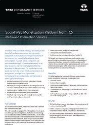 Social Web Monetization Platform from TCS - Tata Consultancy ...