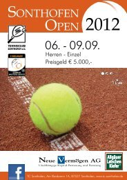 SONTHOFEN OPEN - HEAD German Masters Series