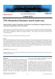 TPX: Biomedical literature search made easy - Bioinformation