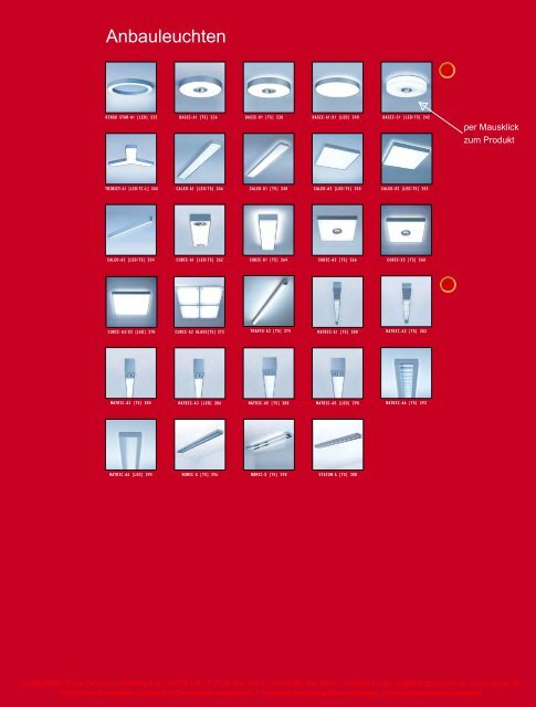 Anbauleuchte 2012 - Luxplan