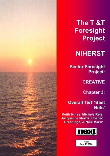 Sector Foresight Project: CREATIVE Chapter 3 - NIHERST