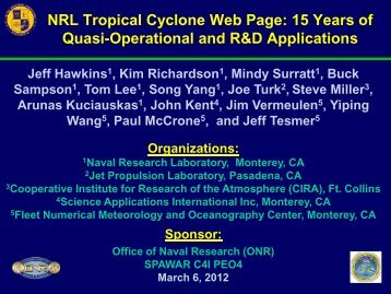 NRL Tropical Cyclone Web Page: 15 Years of Quasi-Operational ...