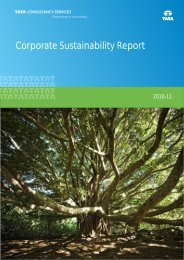 TCS Corporate Sustainability Report 2010-11 - Tata Consultancy ...
