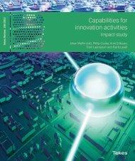 291/2012 Capabilities for innovation activities – Impact study - Tekes