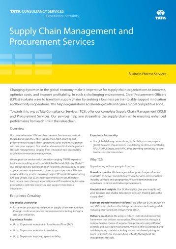 Download 65 KB PDF - Tata Consultancy Services