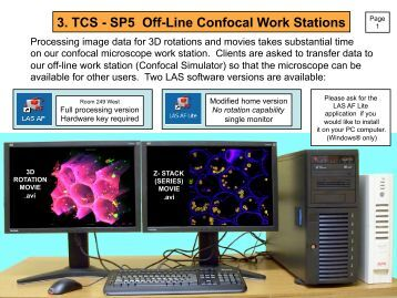 3. TCS - SP5 Off-Line Confocal Work Stations