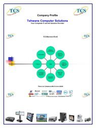 Company Profile - Tshwane Computer Solutions