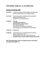 programm samstag, 18. oktober 2008 - Landesfeuerwehrverband ...
