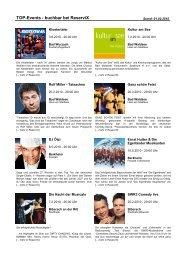 TOP-Events - buchbar bei ReserviX - Der Wurzacher