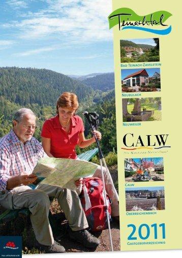 Gastgeberverzeichnis Bad Teinach-Zavelstein ... - Neuweiler