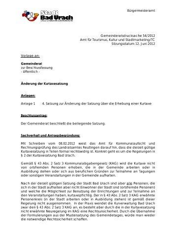 GR-Drucksache 054-2012 - Bad Urach