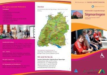 aktueller Hausprospekt - Hohenzollern-Jugendherberge Sigmaringen