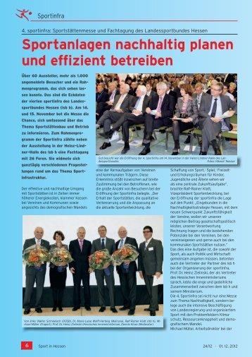 Sport in Hessen 01.12.2010 - Sportinfra
