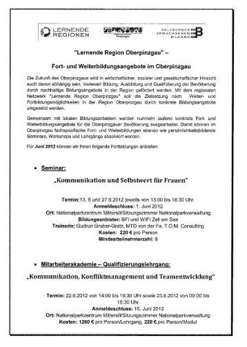 Infos zu den Kursen der Lernenden Region Oberpinzgau - Salzburg.at