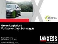 Green logistics - Chemion