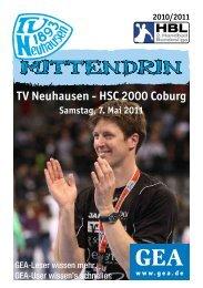 HSC 2000 Coburg Samstag, 7. Mai 2011 - TV Neuhausen