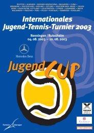 Internationales Jugend-Tennis-Turnier 2003 Renningen ...
