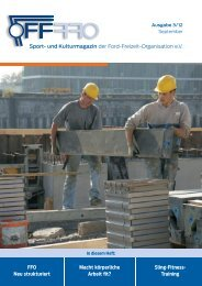 Sport- und Kulturmagazin der Ford-Freizeit-Organisation e.V. FFO ...