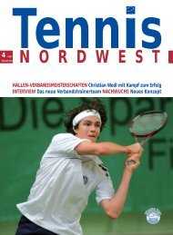 Tennis NORDWEST 4-2007 - Tennisverband NORDWEST eV